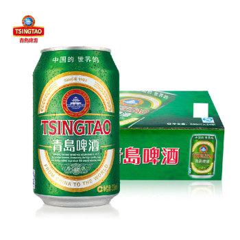 青岛啤酒 经典(11度)啤酒330ml*24听/箱 罐装