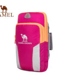 骆驼 CAMEL 户外男女款运动手臂包 双袋容纳男女手臂包  8W3AMT003 粉色的图片