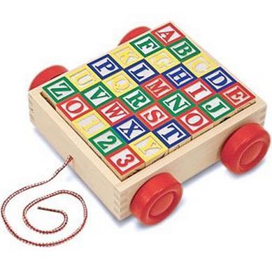 智乐美30块字母数学动物学习积木车