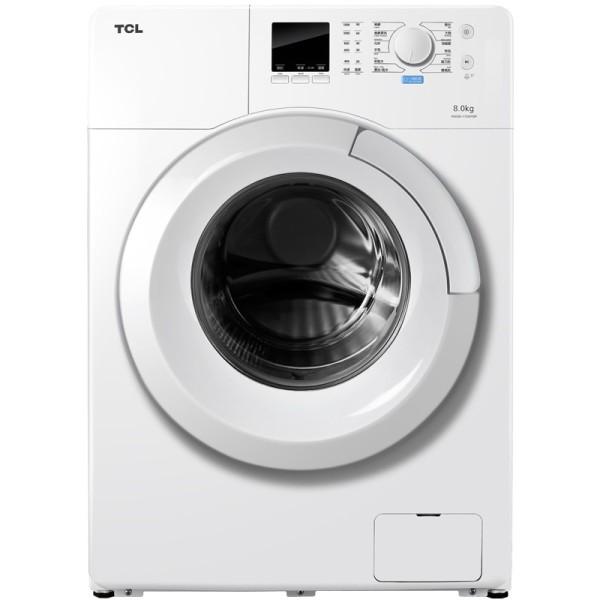 tcl 8公斤变频除菌滚筒洗衣机xqg80-f12101tbp 易迅特价