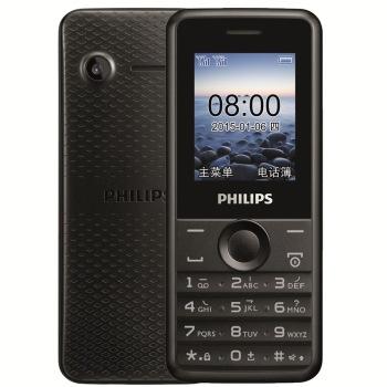 飞利浦 e103 陨石黑 移动联通2g手机 双卡双待高清图片